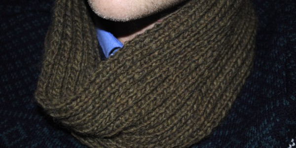 mens knitted snood cowl pattern ribbed crafts