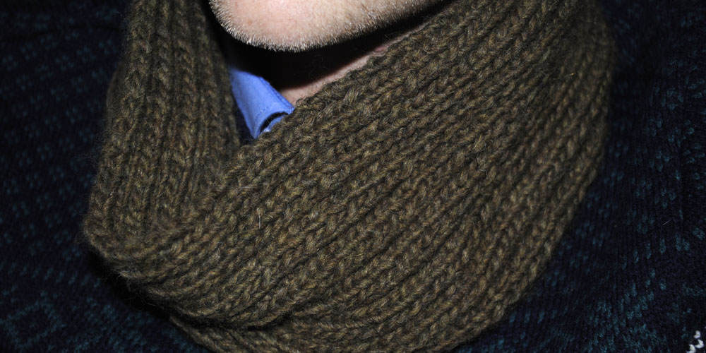 Mens Cowl Snood Knitting Pattern