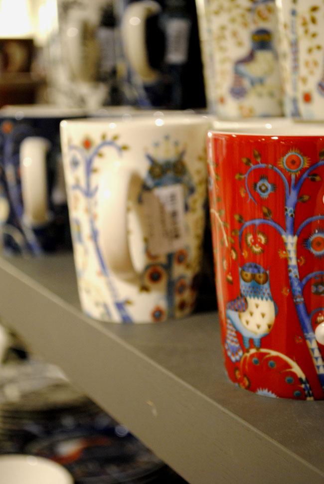 owl woodland crockery cups in aria