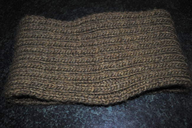 ribbed cowl knitted for mens gift