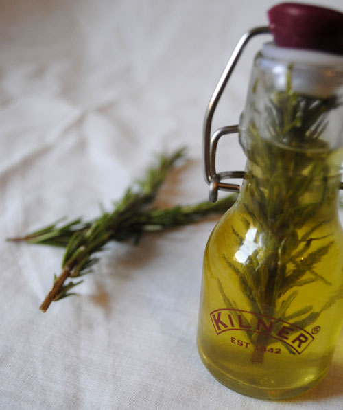 rosemary herbs in an olive oil for christmas hamper