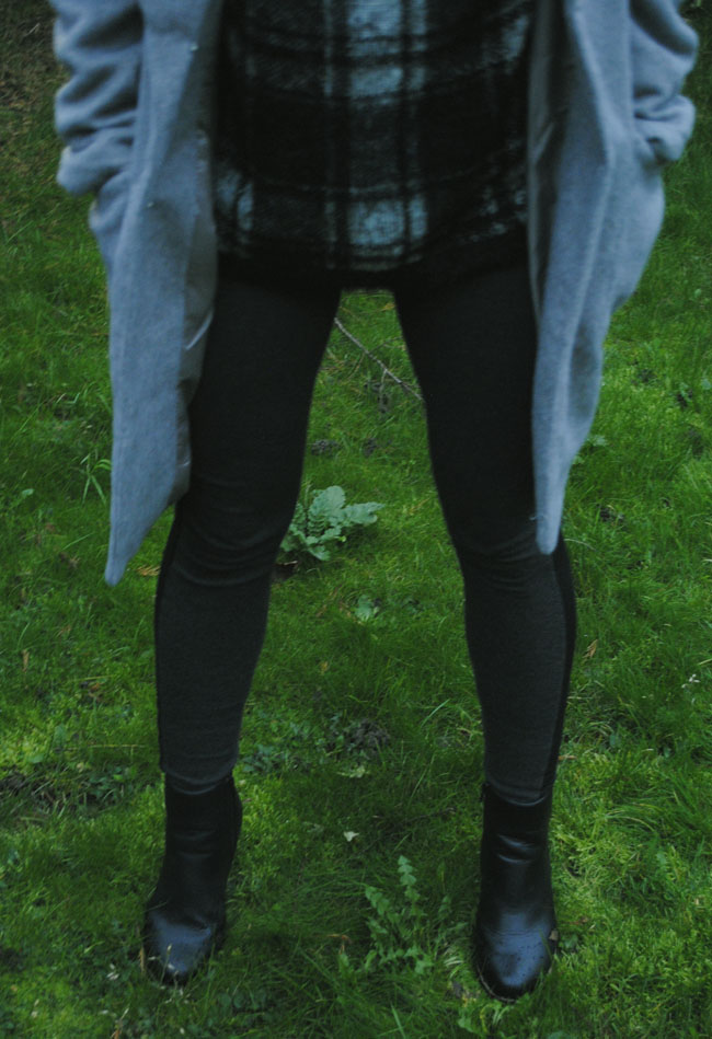 zara leggings next boots winter fashion outfit of the day tkmax check jumper