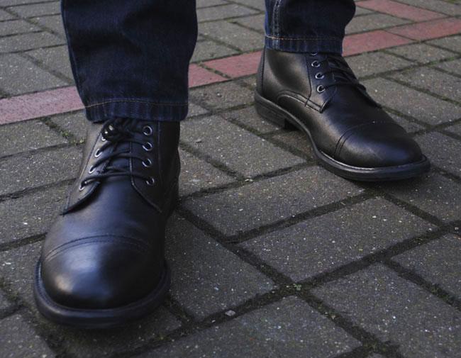 Kurt Geiger black mens shoes with laces designer