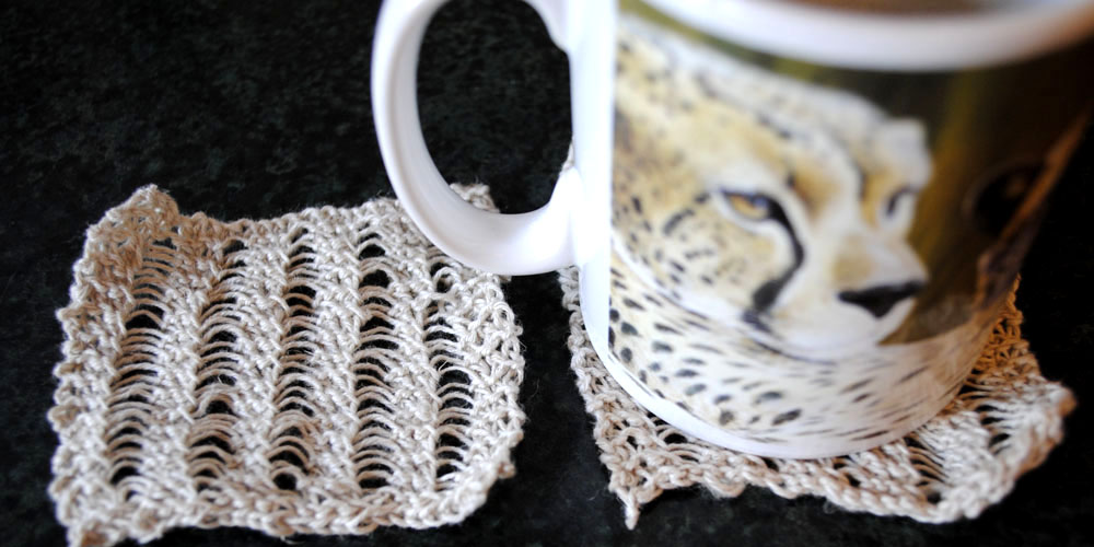 Knitted Coasters Easy Pattern For Beginners The Fairytale Pretty