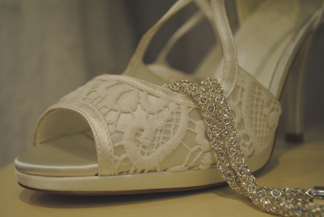 wedding blog detail bridal shoes necklace phase eight