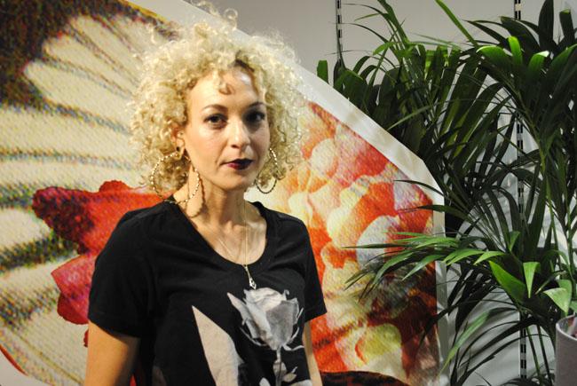 Laura Oakes designer interior tapestry material decoupage