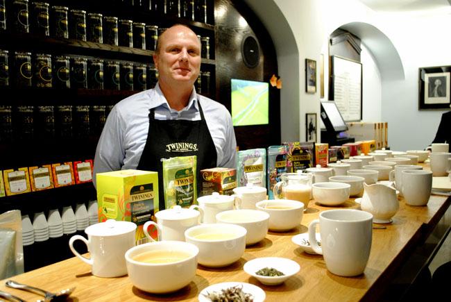 Master tea blender at twinings museum original shop in london