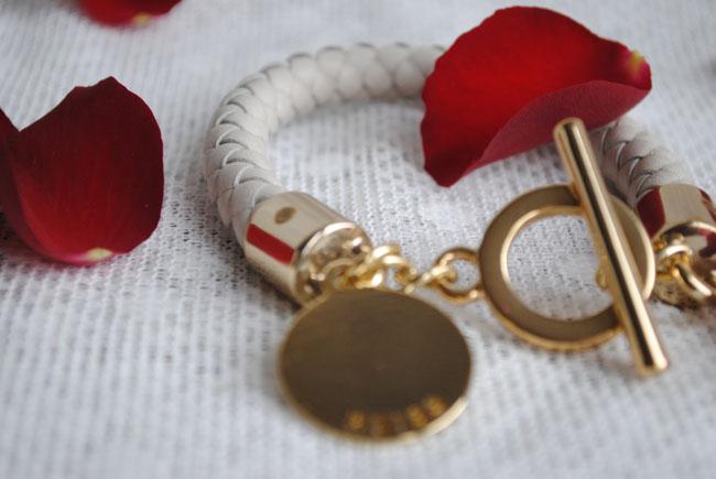 Reiss bracelet white leather