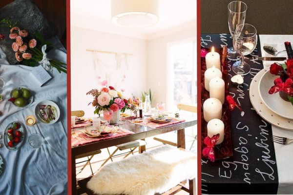 Valentine's day dining table ideas for romantic meal setting