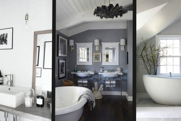bathroom ideas post on trends for 2015 including nordic grey centrepiece bath tubs and vessel sinks