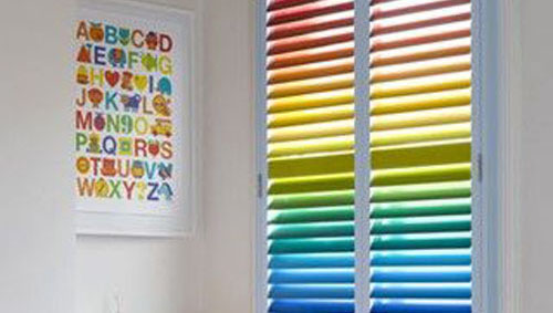 colourful statement blinds childrens room