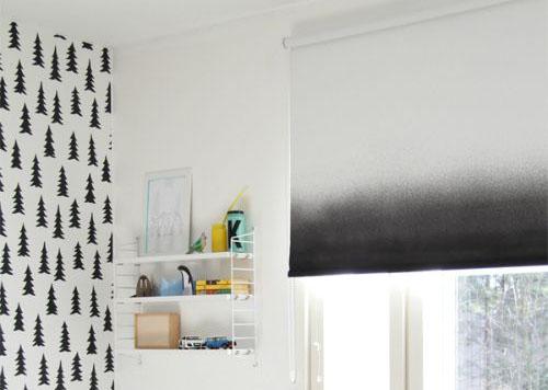 monochrome ombre blind interior trend
