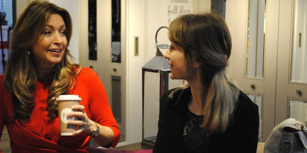 Alina Isaev interviewing Julia Kendell DIY SOS interior stylist