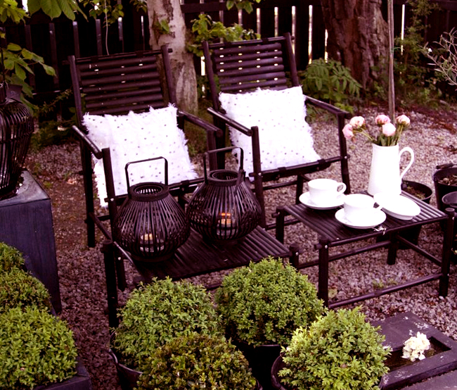 garden outdoor coffee set family furniture
