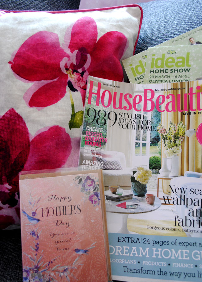 mothers day gift ideas for the home cushions flowers ideal home show tickets and magazine