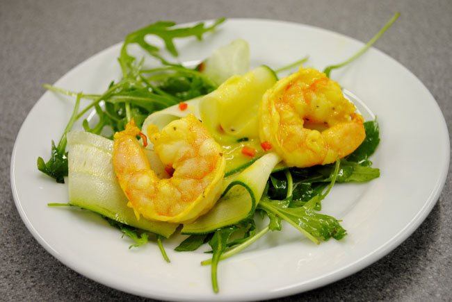 starter prawns teaching cooking class lbloggers