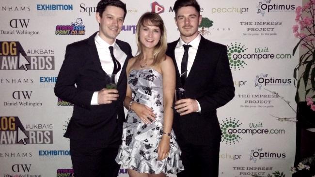 UK Blog Awards Photos from the night ceremony UKBA15 MontCalm venue london