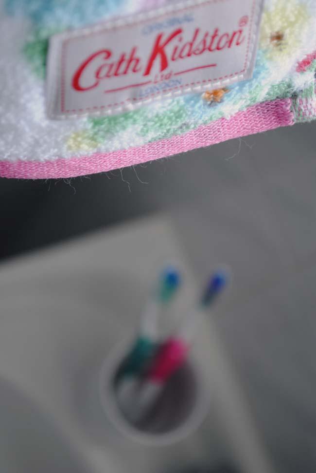 cath kidston towel on rack toothbrush holder bathroom ideas