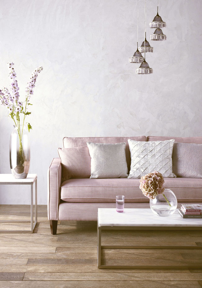 lilac pastel purple sofa
