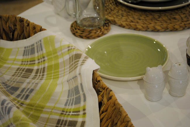 Fresh green decor interiors at Matalan press event AW15