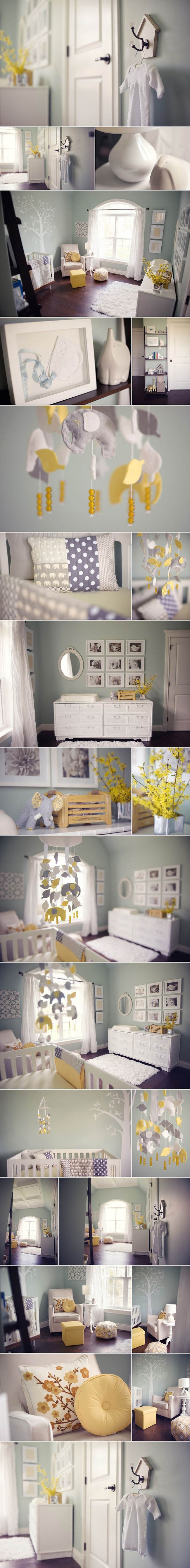 Kerianne Brown Photography nursery duck egg blue and yellow interior