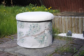 How to Upcycle a Washing Machine Drum into a Footstool