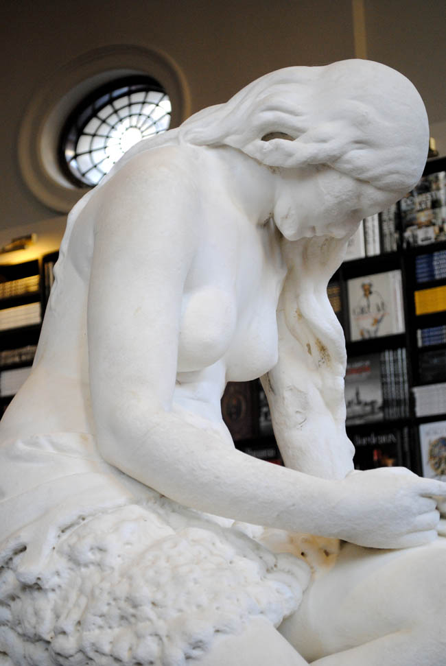 statue in maison assouline london uk