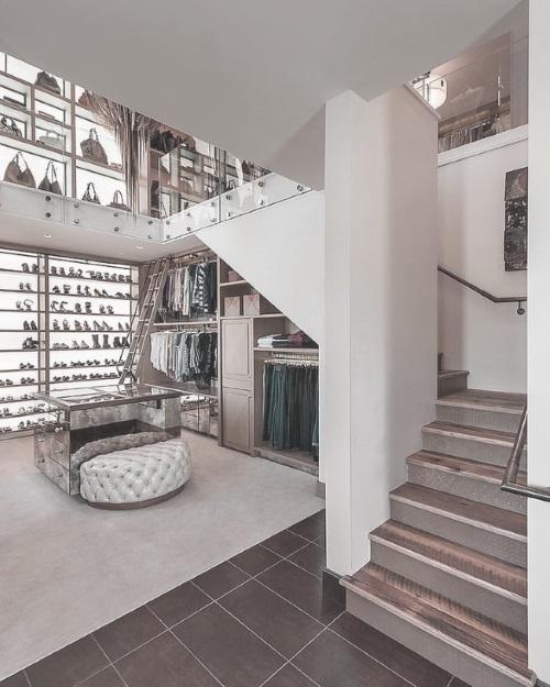 multi floor walk in wardrobe
