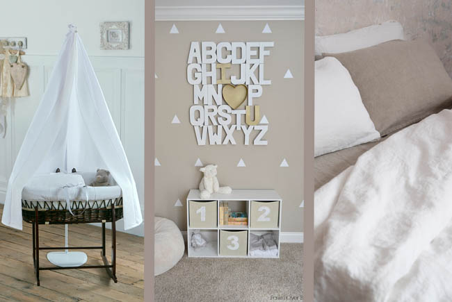 neutral nursery idea interiors blog chic rustic white beige