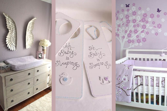purple lilac nursery ideas for baby girl interior blog