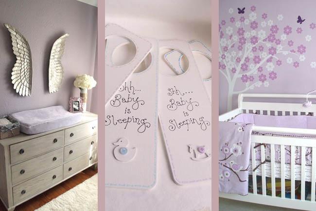 purple lilac nursery ideas for baby girl interior blog