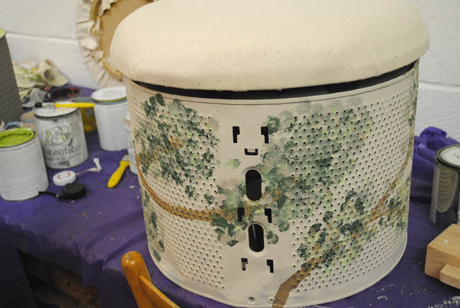 How to Upcycle a Washing Machine Drum into a Footstall