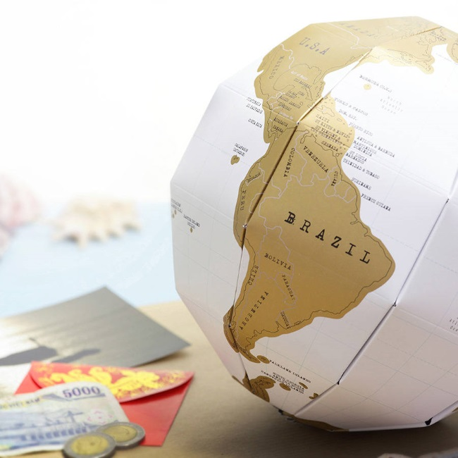3d globe scratch map poster fathers day gift idea