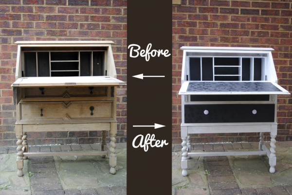 Before and after upcycling tutorial writing bureau step by step guide how to