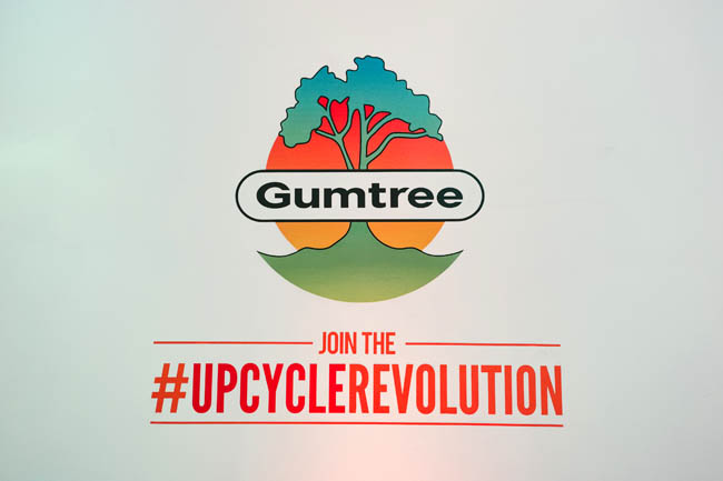 Gumtree logo upcycle furniture process