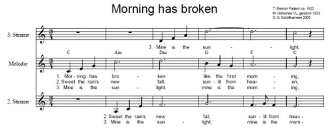 Morning has broken hymn wedding blog ideas
