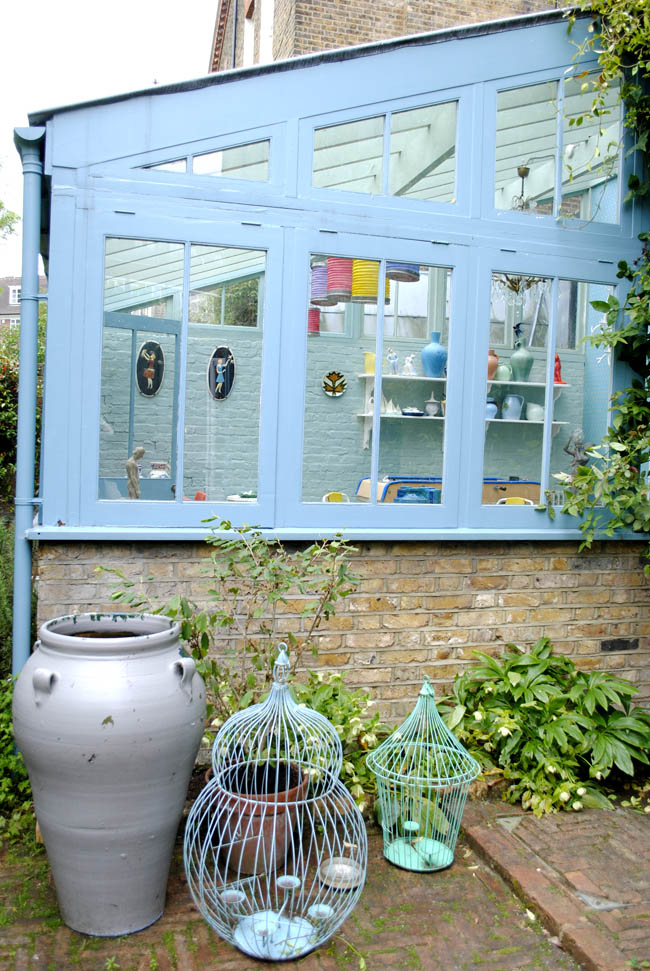 Pastel blue conservatory in house tours north london living etc ao interior blog