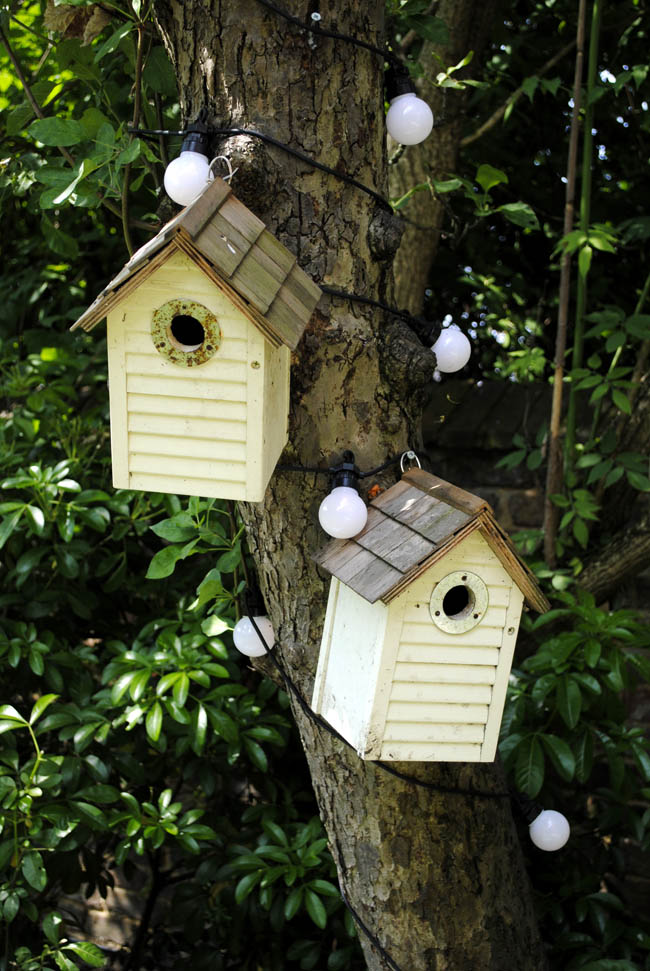 bird houses pastel yellow garden ideas outdoor exterior