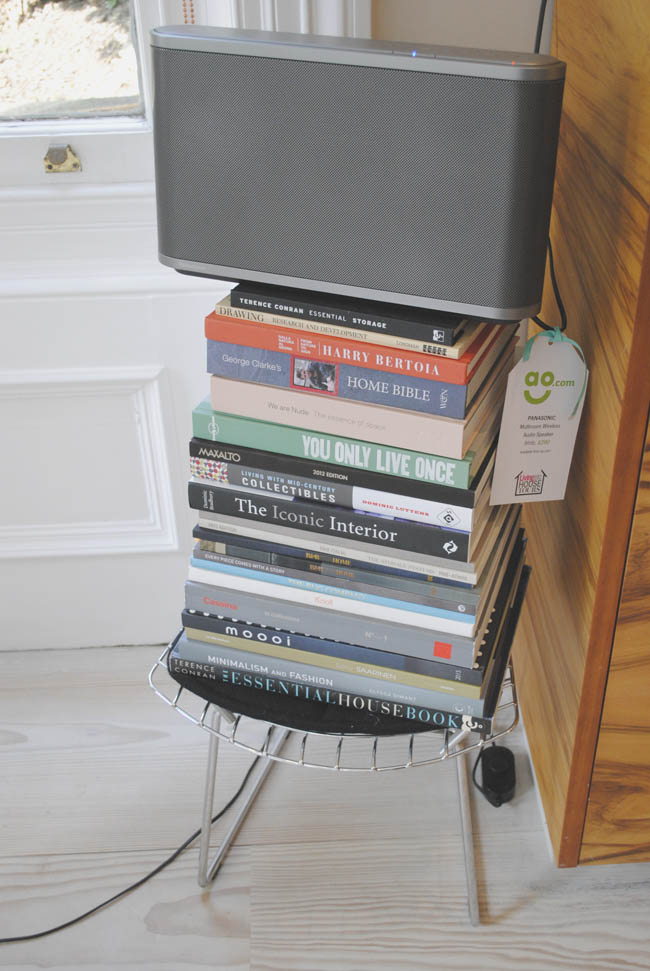 diy books from a stand to hold radio technology