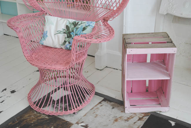 diy shabby chic pink stand drawers and shelves interior crafts