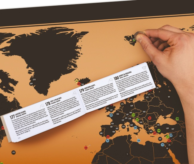 the great gift company map adventurer travel