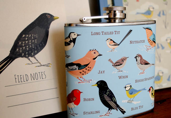birds pattern hip flask gift ideas for her