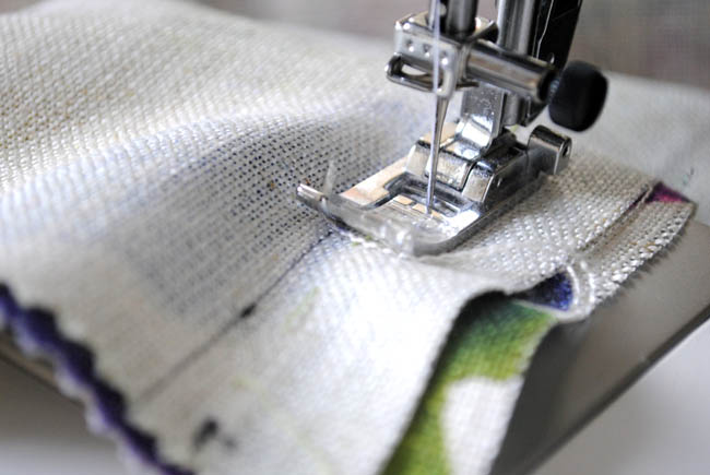 sewing machine picture fabric bluebellgray