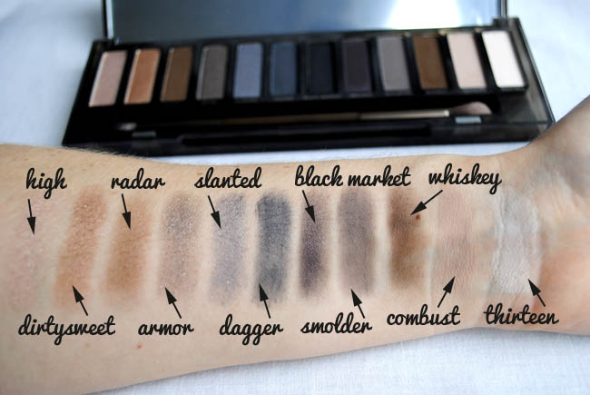 Urban Decay smoky palette review by beauty blog uk