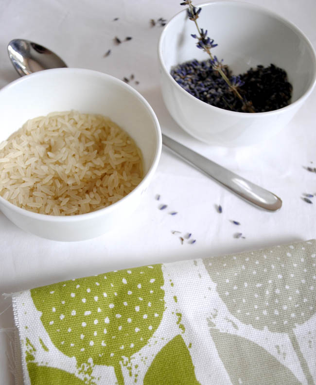 rice and lavendar in an eye pillow gift bridesmaid