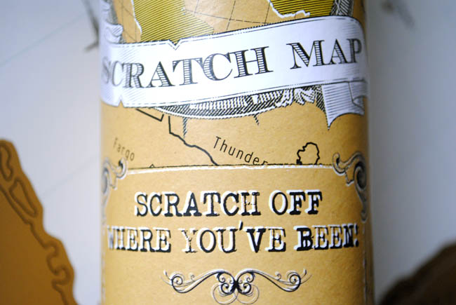 scratch map travelling the world going abroad