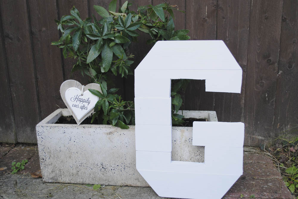 how to DIY wooden alphabet letter