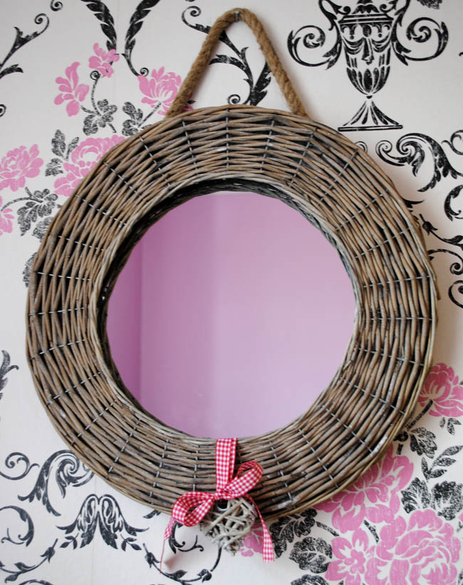 wicker mirror and heart accessory from notonthehighstreet