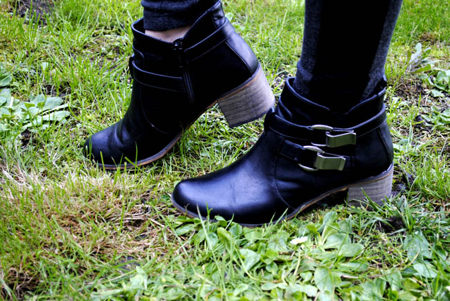 Black buckled ankle boots by Henry Holland at Debenhams