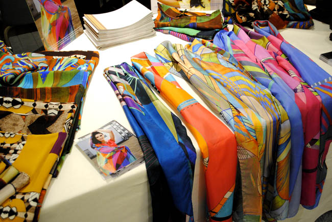 british made silk scarves by designer colourful